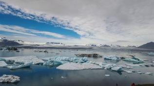 Looking at glacier