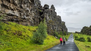 This cliff is a wall of a continental plate that has spread apart and moved away from the rift zone