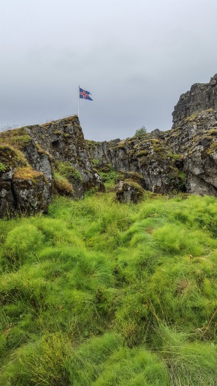 Looking between the walls of the continental plates