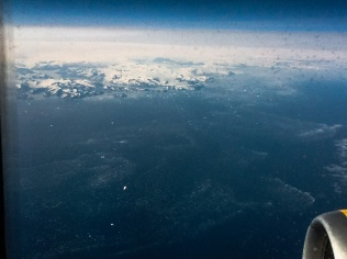 Flying over Greenland!